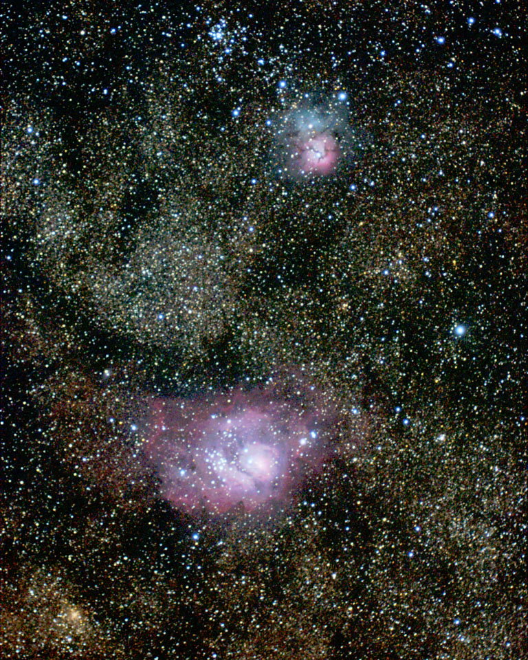 lagoon trifid nebula - photo #26